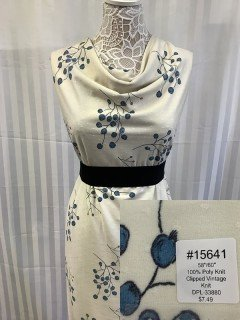 15641 Clipped Vintage Knit Yellow Blue