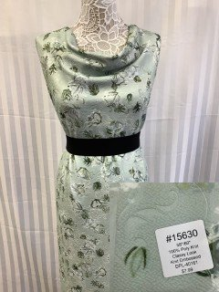 15630 Classy Look Knit Embossed Pale Green Olive