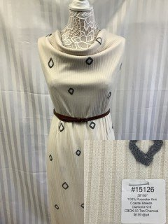 15126 Coastal Breeze Diamond Knit Tan Charcoal