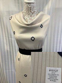 15127 Coastal Breeze Diamond Knit Tan Grey