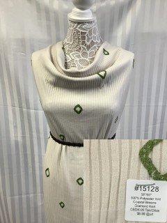 15128 Coastal Breeze Diamond Knit Tan Olive
