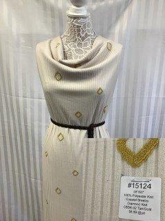 15124 Coastal Breeze Diamond Knit Tan Gold