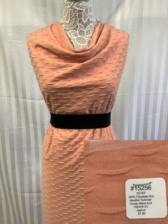 15256 Heather Summer Ocean Wave Knit Apricot
