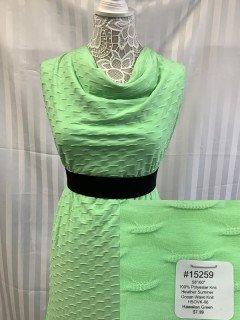 15259 Heather Summer Ocean Wave Knit Hawaiian Green