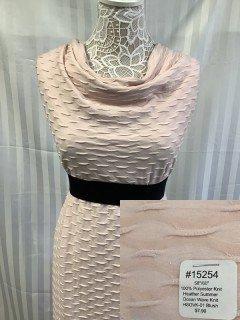 15254 Heather Summer Ocean Wave Knit Blush