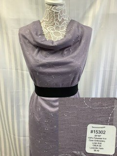 15302 Open Embroidery Linen Knit Lavendar Aura