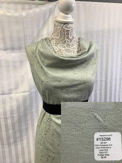 15298 Open Embroidery Linen Knit Puritan Grey
