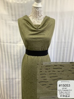15053 Puffed Line Knit Chives
