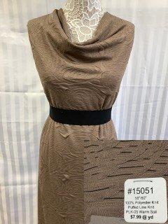 15051 Puffed Line Knit Warm Soil