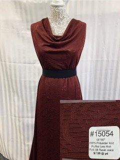 15054 Puffed Line Knit Raisin Juice