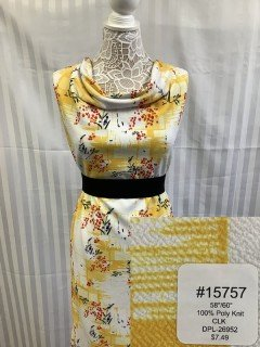 15757 Classic Look Knit White Yellow Rust