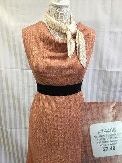 14468 Fall Glitter Sweater Knit Embossed