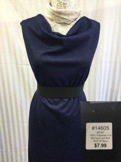 14605 Burnout Leaf Knit Navy