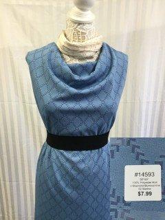 14593 V Diamond Burnout Knit Marine