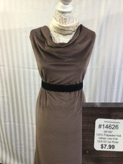 14626 Velvet Line Knit Ice Rose