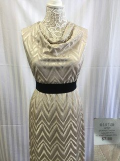 14129 Shimmer Chevron Jacquard Knit