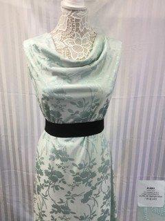 14091 Jacquard Vintage Clipped Rose Knit