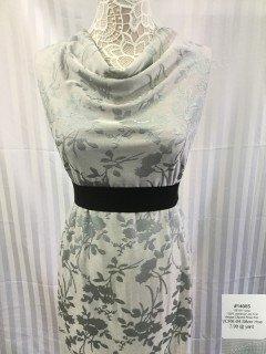 14085 Jacquard Vintage Clipped Rose Knit