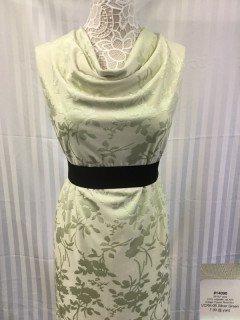 14090 Jacquard Vintage Clipped Rose Knit