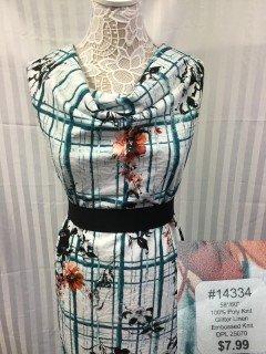 14334 Glitter Linen Embossed Knit