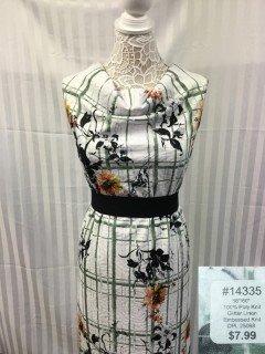 14335 Glitter Linen Embossed Knit