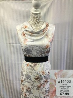 14403 Vintage Clipped Rose Knit
