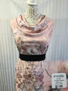 14399 Vintage Clipped Rose Knit