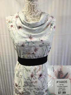 14405 Vintage Clipped Rose Knit