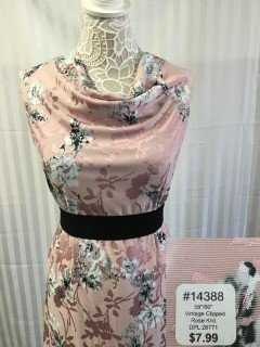14388 Vintage Clipped Rose Knit