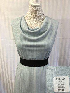 14337 Glitter Ribbed Knit Stripe