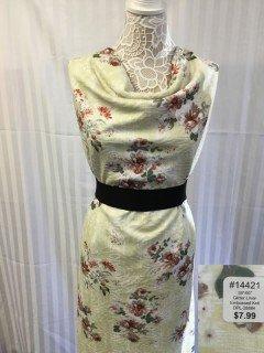 14421 Glitter Linen Embossed Knit