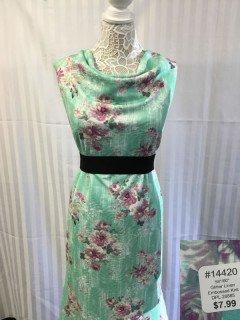 14420 Glitter Linen Embossed Knit