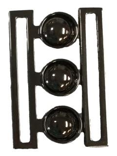 Buckle 173 2 1/4 Black Silver Clasp