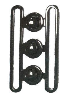 Buckle 174 2 1/2 Black Silver Clasp