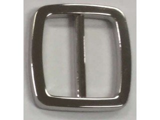 Buckle 1 in. Shiny Silver