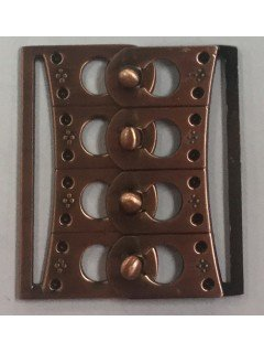 "Buckle 193 2"" Copper Metal Clasp"