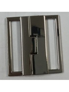 "Buckle 211 1.5"" Silver Metal Clasp"