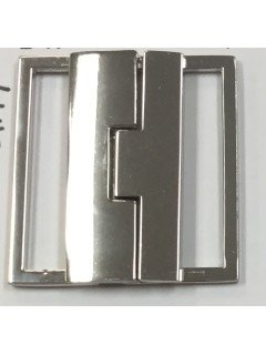 "Buckle 213 2.5"" Silver Metal Clasp"