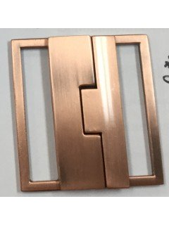 "Buckle 222 2.5"" Copper Metal Clasp"