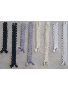 Decorative Zipper with Daisy Tape