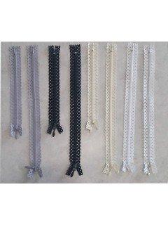 Decorative Zipper with Triangle Tape