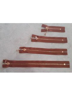 Decorative Zipper with Metal Teeth