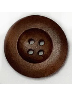 1493 Wooden Button Brown