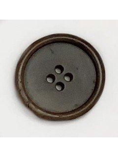 1495 Wooden Button Brown