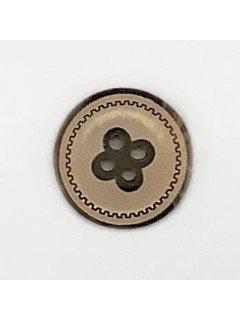 1497 Wooden Button Tan Black