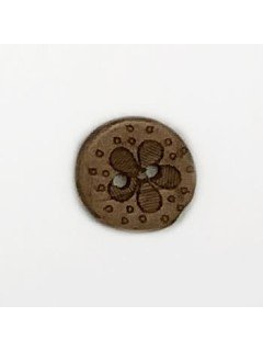 1498 Wooden Button Brown