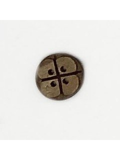 1502 Wooden Button Brown