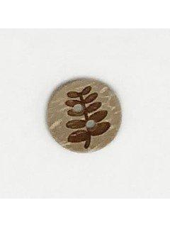 1506 Wooden Button brown