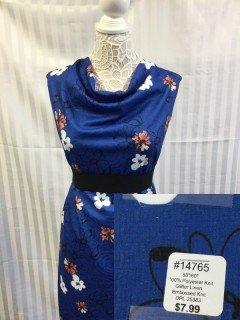 14765 Glitter Line Embossed Knit Egyptian Blue Salmon White