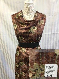 14763 Classic Look Knit Embossed Brown Tan Rust